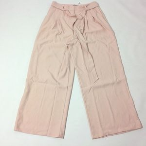 New Asos Women's Pants Belted Wide Leg Size 6 Tall